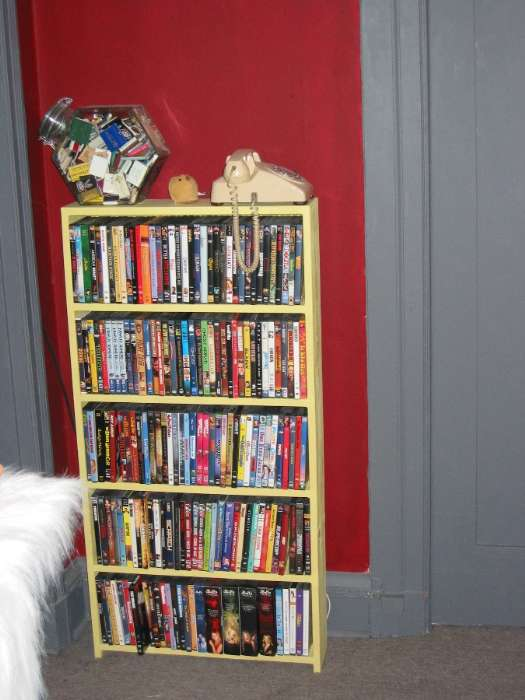 Tiki Themed DVD Shelf
