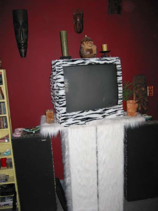 Fur Coated Entertainment Center